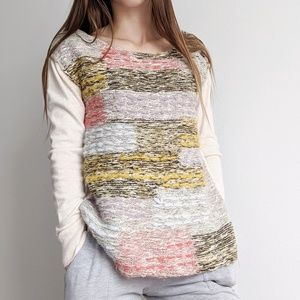 Anthropologie Moth multicolor Long Sleeve sweater